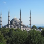 Blue Mosque with Sea of Marmara behind